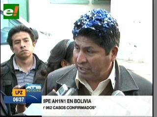 Anuncian 962 casos positivos de gripe AH1N1, la mayoría en La Paz