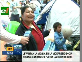 Indígenas de la IX marcha se despiden de La Paz, se van decepcionados