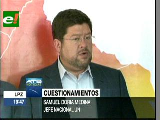 """Doria Medina: """"La construcción de un Teleférico se convertirá en un negociado más para el Gobierno"""""""