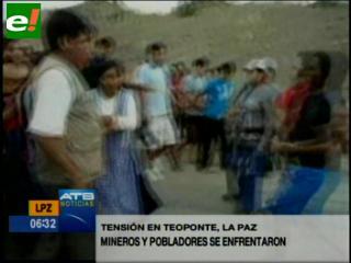 Explotación de oro deriva en enfrentamientos en Teoponte