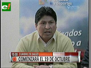 Cumbre de Salud será del 19 al 21 de octubre en Yacuiba