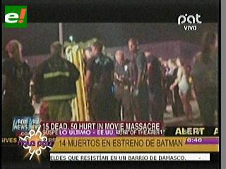 Masacre en Denver: Al menos 14 muertos en el estreno de Batman