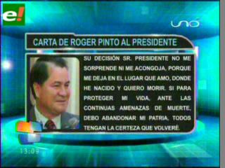 Roger Pinto: Señor Presidente, usted abusa del poder