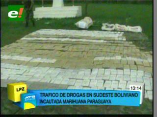Duro golpe al narcotráfico, Umopar incautó media tonelada de marihuana en Villamontes