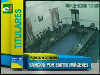 Ordenan acciones legales contra medios que emitieron imágenes de la presunta violación en la Asamblea de Chuquisaca