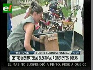 Comienzan a distribuir material electoral en Beni