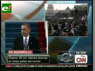 Obama jura públicamente el cargo para segundo mandato como presidente de EEUU