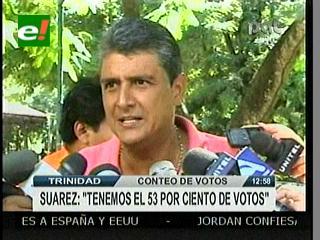 Suárez: La victoria de Lenz en Beni es oficial