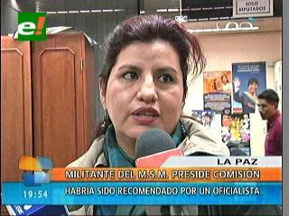"""El MAS pone en la congeladora a Rebeca Delgado, ella dice que asume el """"castigo"""""""
