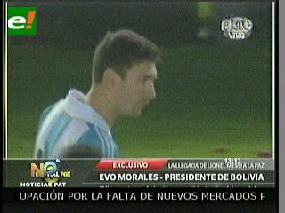Condecoración de Morales a Messi cae mal a jugadores de selección boliviana