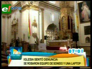 Delincuentes roban dinero de la Catedral de Cochabamba