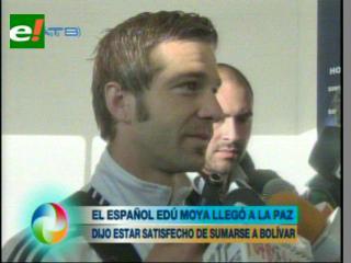 """Moya: """" Tengo mucha alegría de llegar al Club Bolívar"""""""