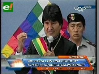 Evo dice que el incidente en Europa no fue un error y que no basta con pedir disculpas a Bolivia