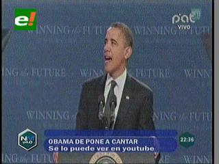 """Obama canta """"Call Me Baby"""" de Carly Rae Jepsen"""