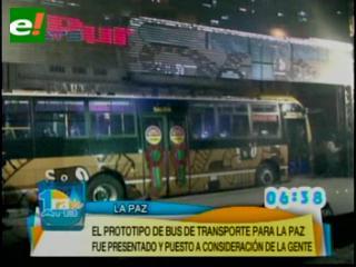 El prototipo del bus municipal ya está en La Paz