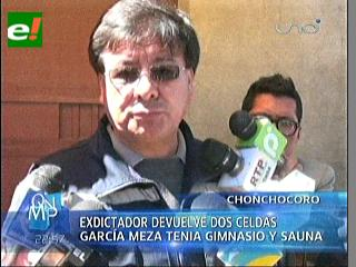García Meza devolvió espacios que ocupaba en Chonchocoro