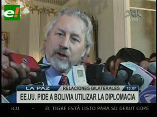 """EEUU """"recuperar la amistad"""" con Bolivia"""