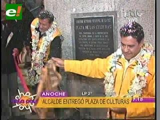 Inauguran Plaza de Culturas en La Paz