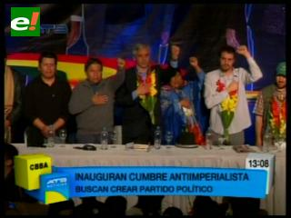 Inauguran cumbre antiimperialista con 1.200 delegados de 19 países