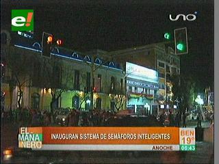 Instalan semáforos inteligentes para La Paz