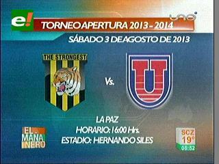 El Tigre y la 'U' abrirán el torneo