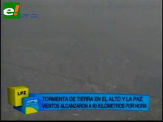 Senamhi: Vientos alcanzaron los 70 Km/h, una nube convectiva cubrió la sede de Gobierno