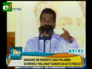 """Maduro propone incluir """"millonas"""" en el idioma español"""