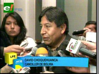 Canciller Choquehuanca: No podemos decir garantizamos la llegada de Capriles