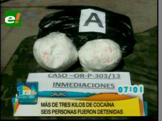 FELCN incauta más de 3 kilos de cocaína en Oruro