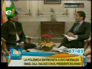 Los momentos más tensos de la entrevista Ismael Cala –  Evo Morales