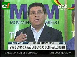 MSM: Sacha Llorenti ordenó represión a la marcha indígena