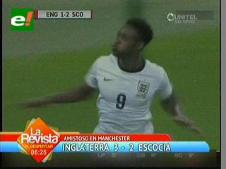 Inglaterra se hizo fuerte en Wembley y venció 3-2 a Escocia