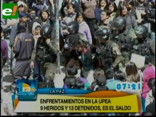Enfrentamientos en la UPEA dejan diez heridos y once detenidos