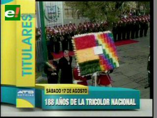 Titulares: Bolivia celebra el Día de la Bandera nacional
