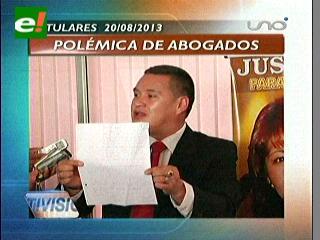 Titulares: Polémica de abogados por el caso Clavijo