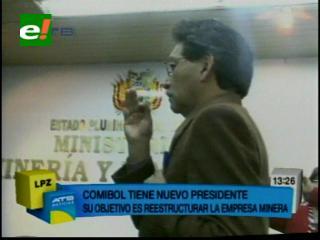 Marcelino Quispe es el nuevo presidente de la Comibol