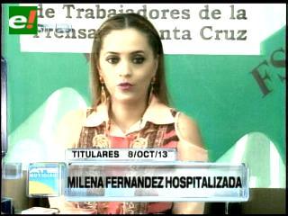 """Titulares: Milena tras cirugía: """"También soy orureña, no soy mala"""""""