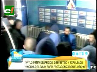 Hinchas del Levski búlgaro echan al nuevo técnico durante su presentación oficial