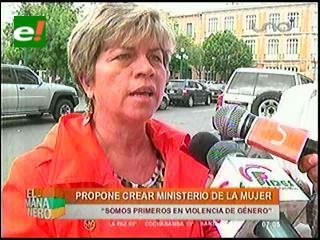 Piden la creación de un ministerio de la mujer para concretar políticas