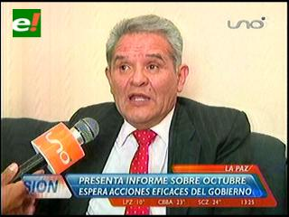 Defensor presentó informe oral ante Comisión de Diputados sobre octubre Negro