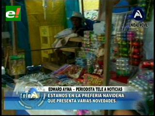 Arrancan las ferias navideñas en La Paz