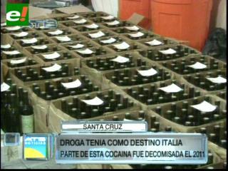 Felcn incauta droga líquida en 738 botellas