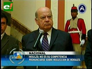 Re-reelección de Evo. Insulza: La OEA no tiene facultad para pronunciarse