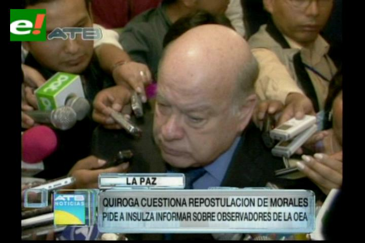 Insulza deja en manos de la CIDH demanda de Jorge Quiroga sobre Petrocontratos
