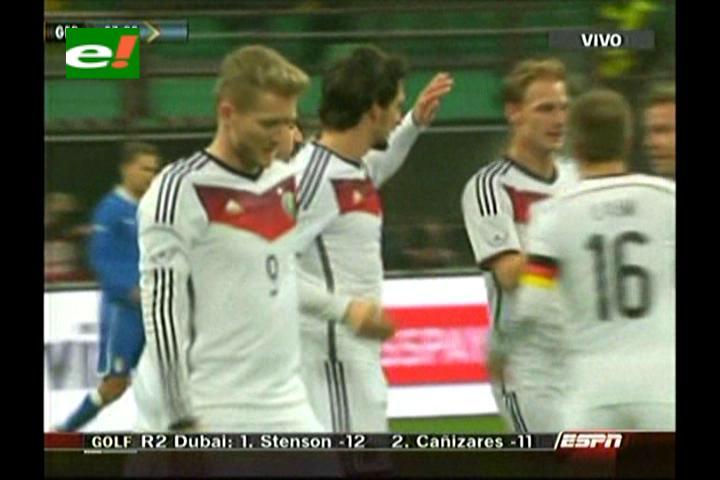 Tres postes le niegan la victoria a Alemania