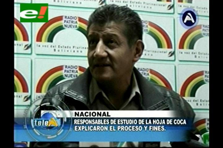 Bolivia alista presentación del estudio de la coca a la UE para el martes