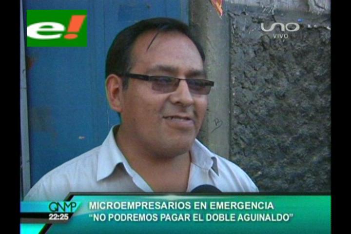 """Microempresarios: """"No podremos pagar el doble aguinaldo"""""""