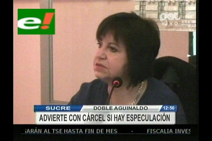 Ministra Morales: Meteremos preso al comerciante que quiera subir sus precios