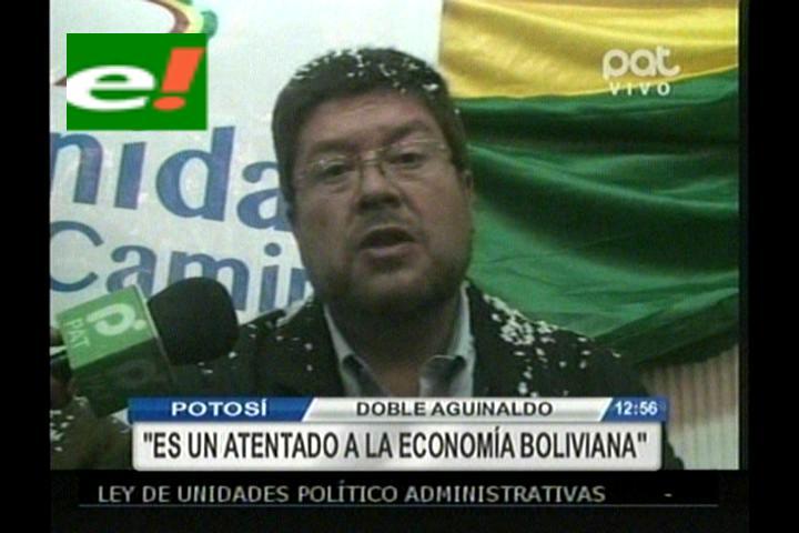 Doria Medina: Doble aguinaldo es un atentado a la economía