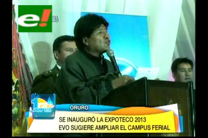 Evo promete ampliar el campo ferial de Oruro